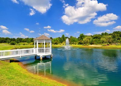 Lake Area With a Gazebo at The Gardens Of Taylor Glen