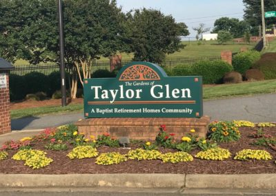 The Gardens of Taylor Glen Sign